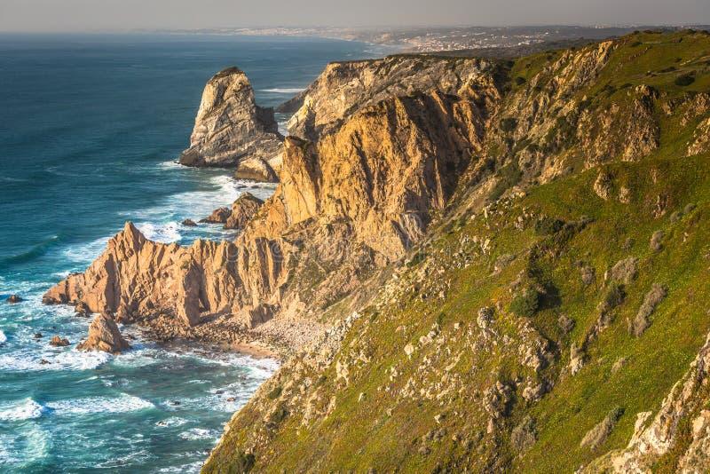 Cabo DA Roca, het westelijke punt van Europa - Portugal royalty-vrije stock afbeelding