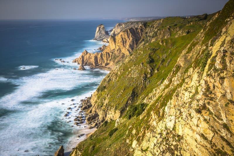 Cabo DA Roca, het westelijke punt van Europa - Portugal royalty-vrije stock afbeeldingen
