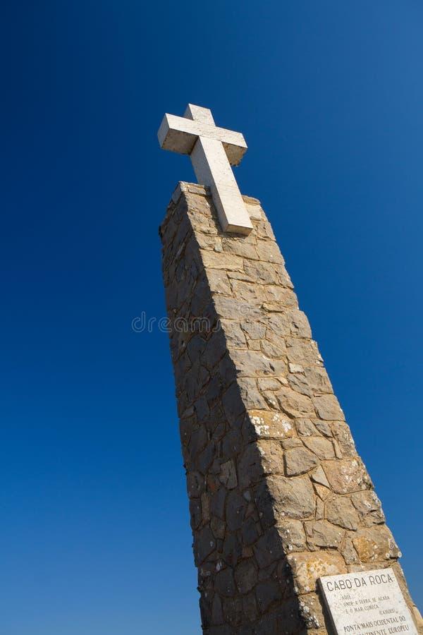 Cabo DA Roca, le point occidental d'Europe au Portugal photos stock