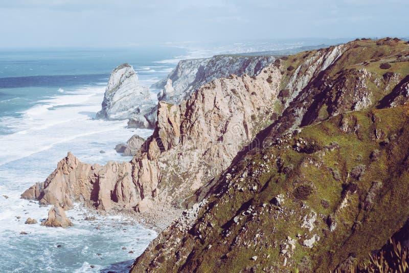 Cabo DA Roca, le point occidental d'Europe - le Portugal image libre de droits