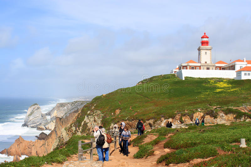 Cabo Da Roca, and lighhouse Portugal stock photo