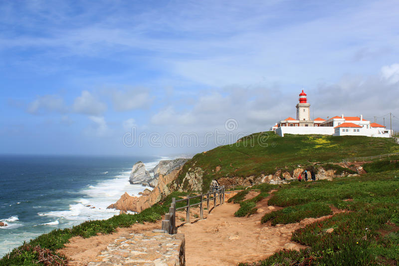Cabo Da Roca, and lighhouse Portugal royalty free stock photo