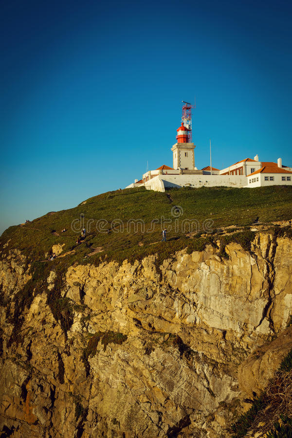 Download Cabo Da Roca Lighthouse And Atlantic Ocean, Portugal Stock Photo - Image: 83723720