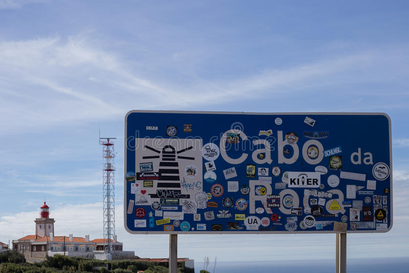 Cabo da Roca Lighthouse stock images
