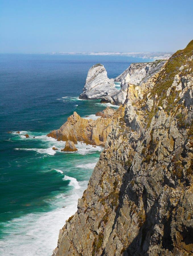 Cabo da Roca, Ocean Cape Cliffs, Portugal royalty free stock image