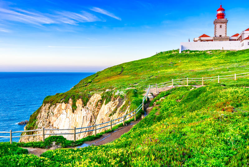 Cabo da Roca, Portugal - Atlantic Ocean stock photos