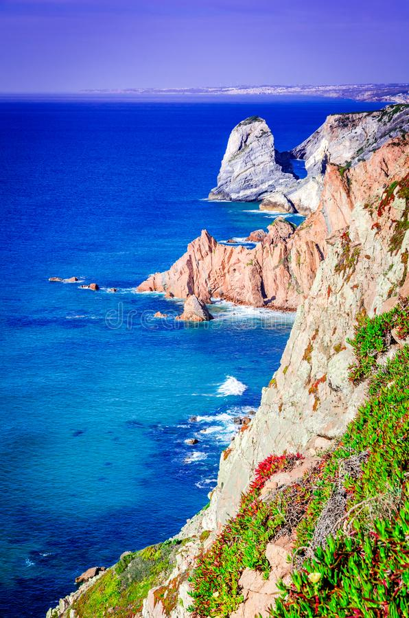 Cabo da Roca, Portugal - Atlantic Ocean royalty free stock photography