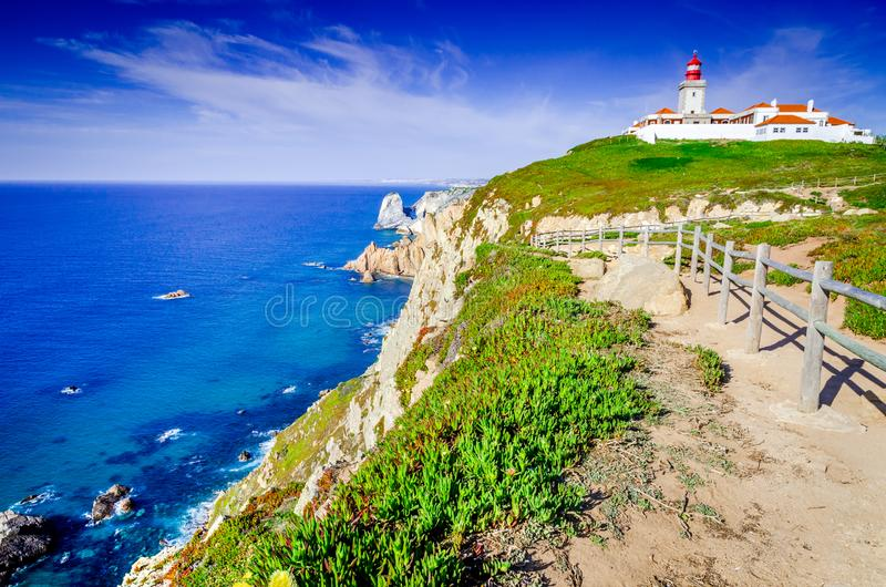 Cabo da Roca, Portugal - Atlantic Ocean stock photo