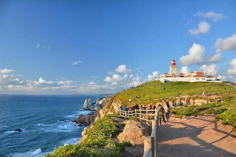 Cabo da Roca in Portugal royalty free stock photo