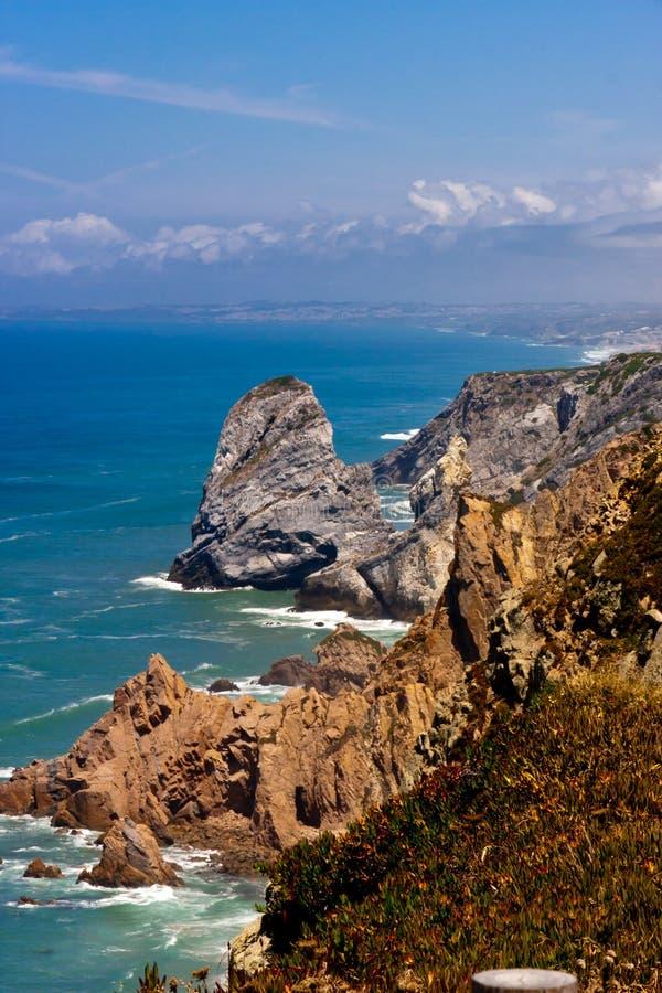 Cabo DA roca Portugal-Klippen stockbilder