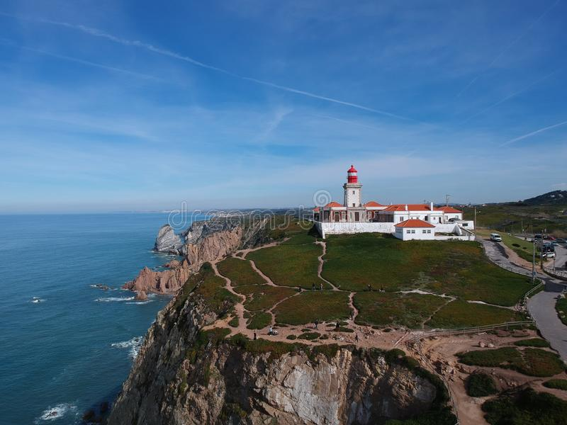 Cabo da Roca , Portugal top view royalty free stock photo