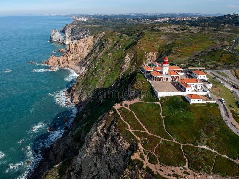 Cabo da Roca , Portugal top view stock photography