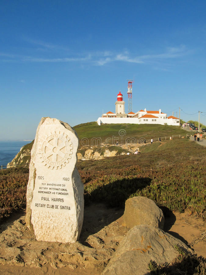 Cabo da Roca - Sintra, Portugal royaltyfria bilder