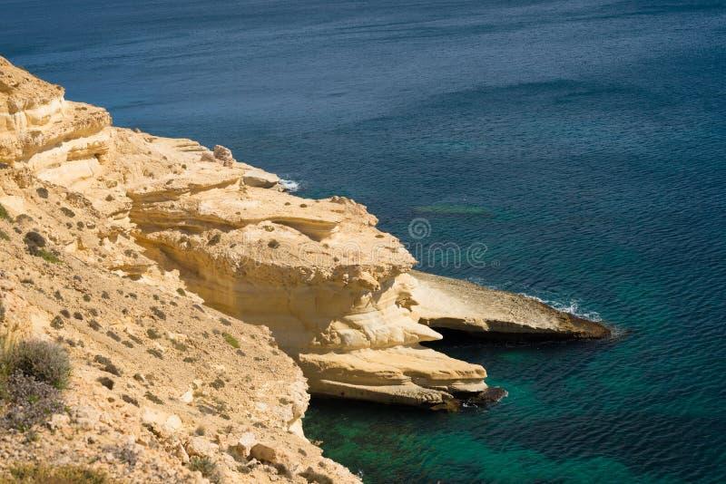 Cabo de加塔角海岸线 库存图片