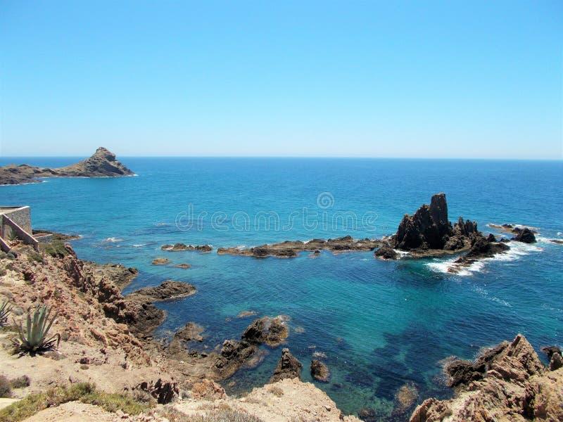 - Cabo de加塔角--阿尔梅里雅 库存图片