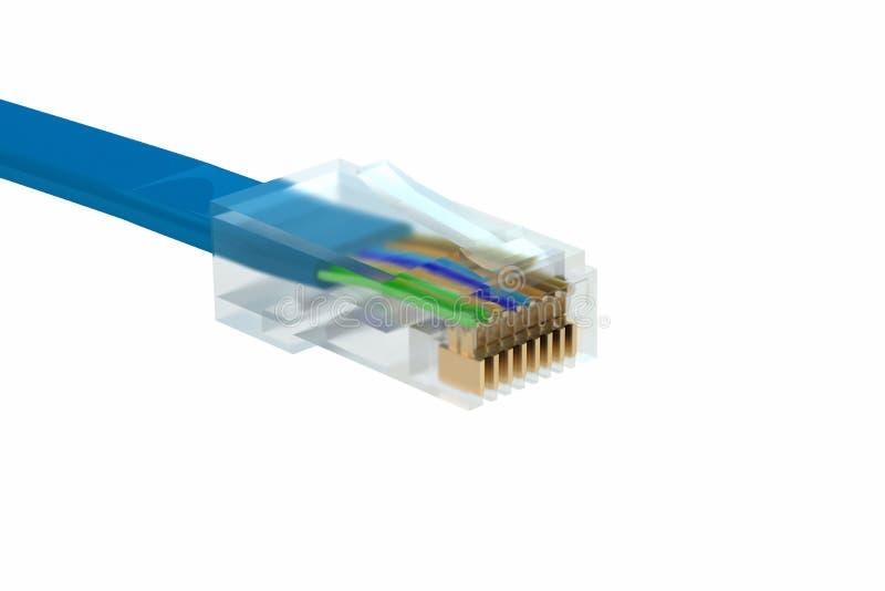 Cabo de Ethernet ilustração stock