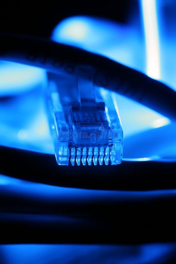 Cabo de Ethernet foto de stock
