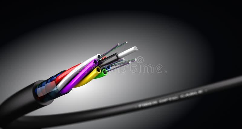 Cabo de fibra ótica ilustração stock