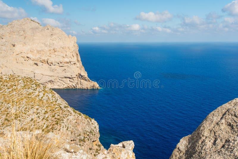 Download Cabo De Formentor à Opinião Aérea Elevada Do Mar De Pollensa Imagem de Stock - Imagem de scenic, verão: 26500121