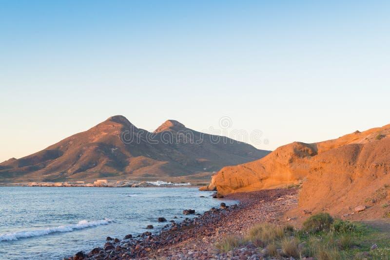 Cabo de Gata beach, landscape stock photography