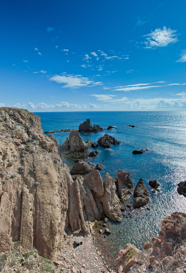 The Cabo De Gata Coast In Almeria Royalty Free Stock Image