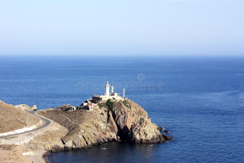 Cabo de Gata. Lighthouse stock photography