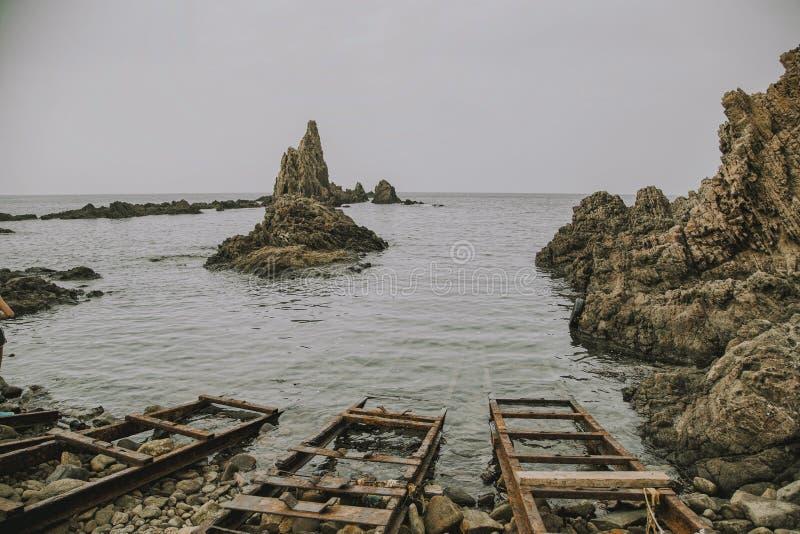 Cabo de Gata Natural Park Greek immagine stock libera da diritti