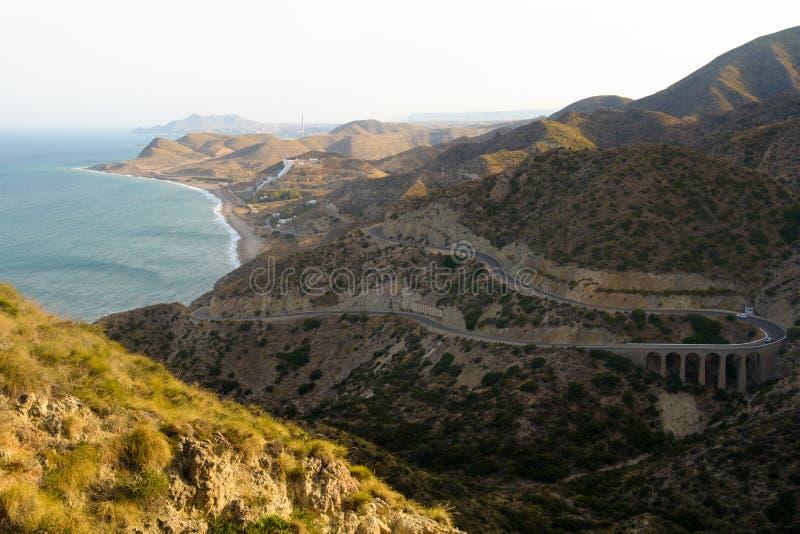 Cabo de gata natural park royalty free stock photos