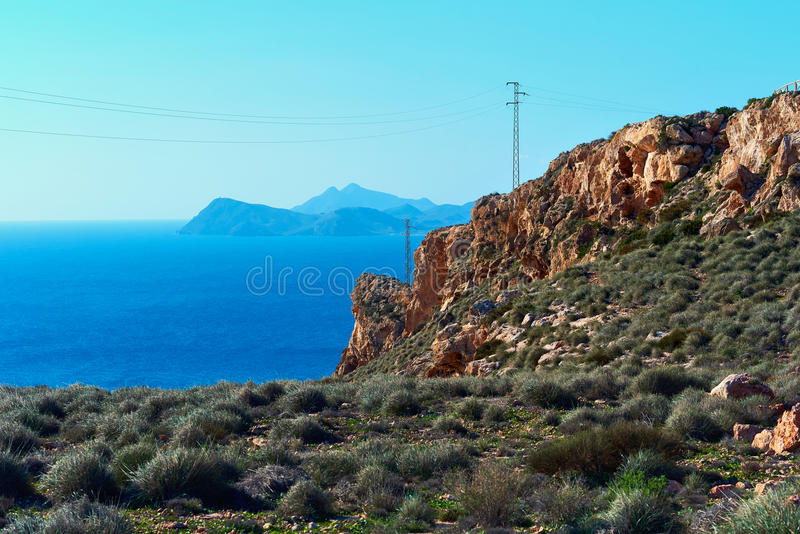 Cabo de Gata-Nijar Natural Park. Spain. Rocky coastline of Cabo de Gata-Nijar Natural Park, south-eastern corner of Spain royalty free stock photos