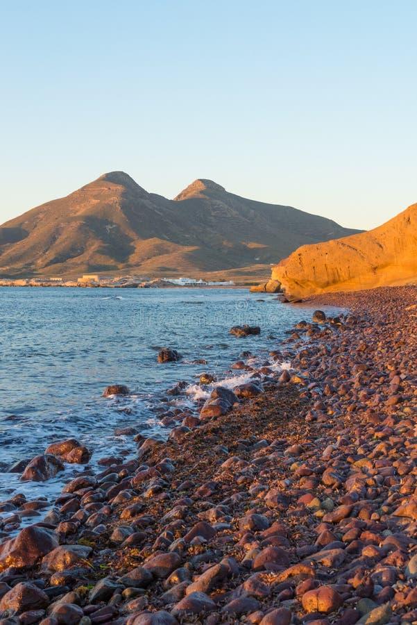 Cabo de Gata sunset stock photography