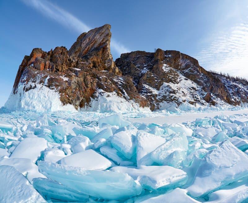 Cabo de Hoboi no lago Baikal fotografia de stock