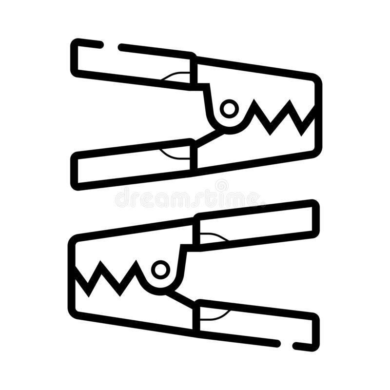 Cabo de ligação em ponte da bateria de carro ilustração royalty free