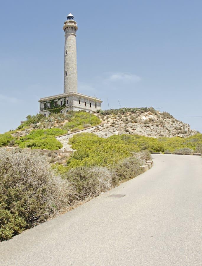 Cabo DE Palos vuurtoren stock foto