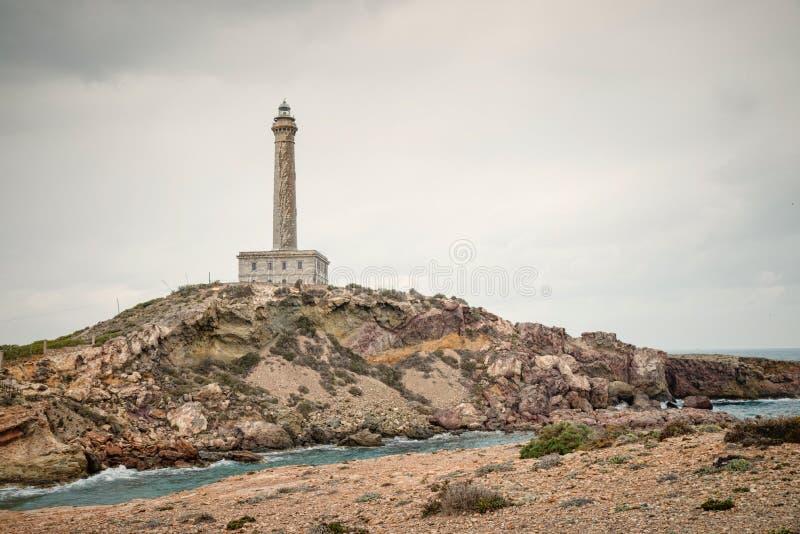 Cabo DE Palos vuurtoren stock foto's