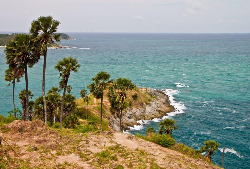 Cabo de Promthep, Phuket, Tailândia fotos de stock royalty free