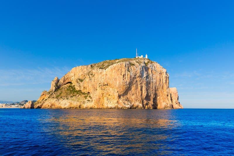 Cabo de San Antonio przylądek w Javea Denia przy Hiszpania zdjęcia stock