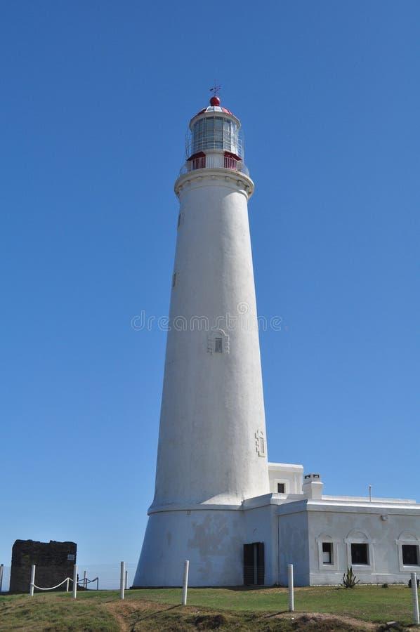 Cabo de Santa Maria latarnia morska w losie angeles Paloma, Rocha, Urugwaj zdjęcie royalty free