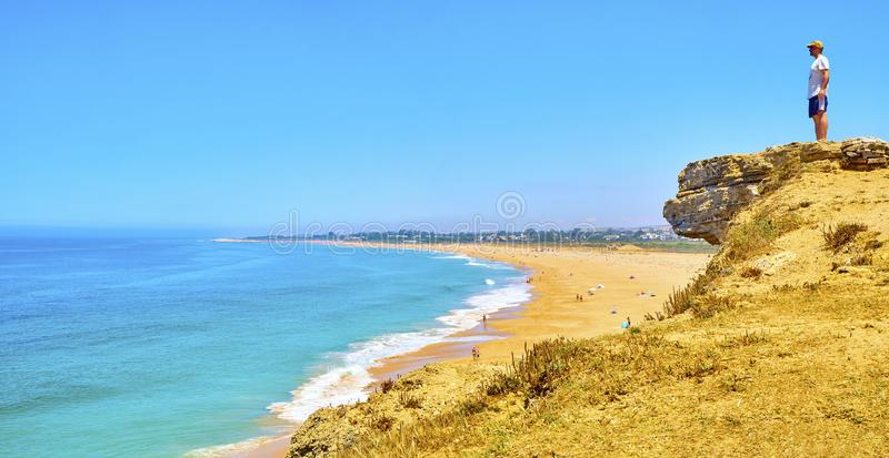 Cabo de Trafalgar Пляж r стоковое фото rf