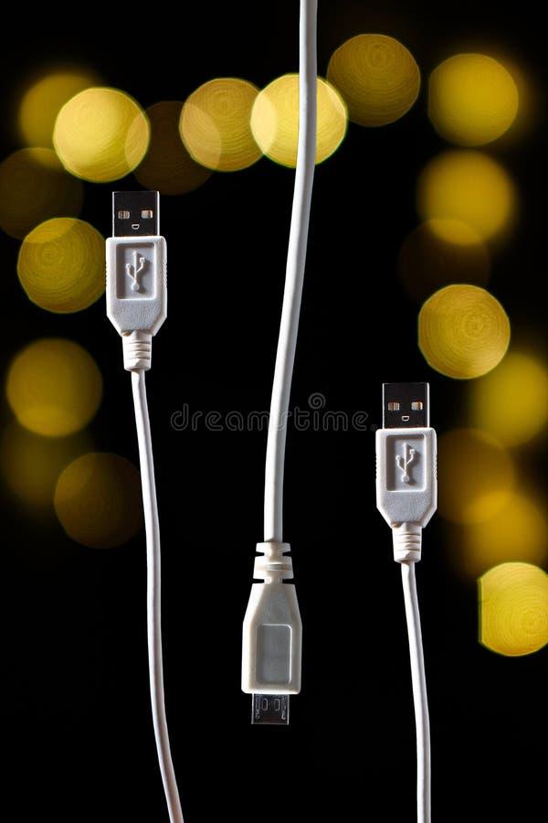 Cabo de USB - cabo - cabo de dados - fio fotografia de stock