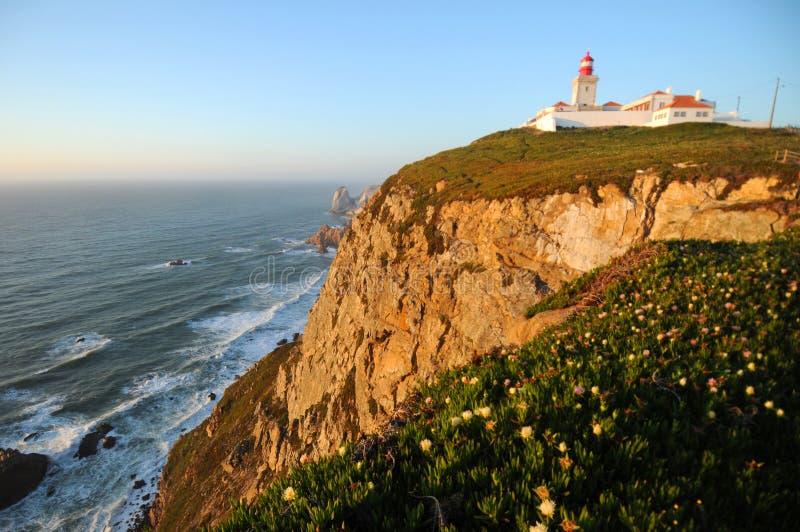 Cabo a Dinamarca Roca, Portugal foto de stock