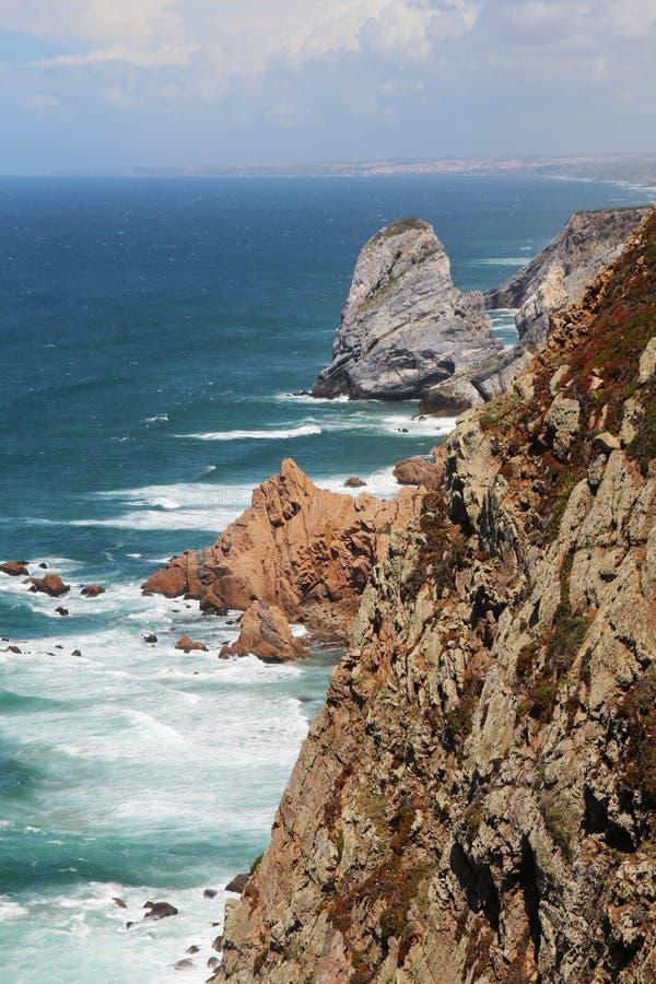 Cabo a Dinamarca Roca, Portugal fotografia de stock royalty free