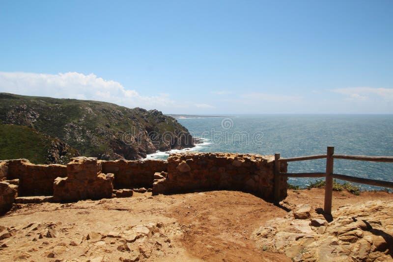 Cabo a Dinamarca Roca, Portugal fotos de stock