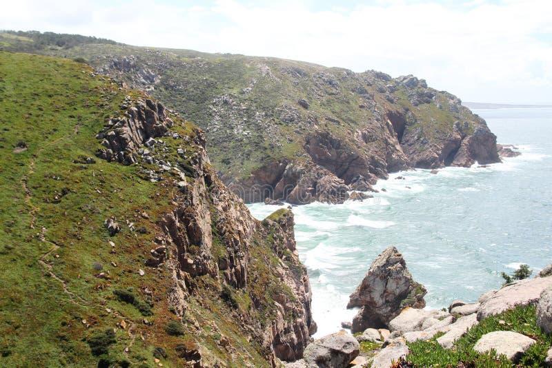 Cabo a Dinamarca Roca, Portugal imagem de stock