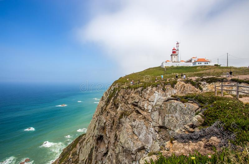 Cabo do Roca φάρος, Πορτογαλία, Ευρώπη στοκ εικόνες