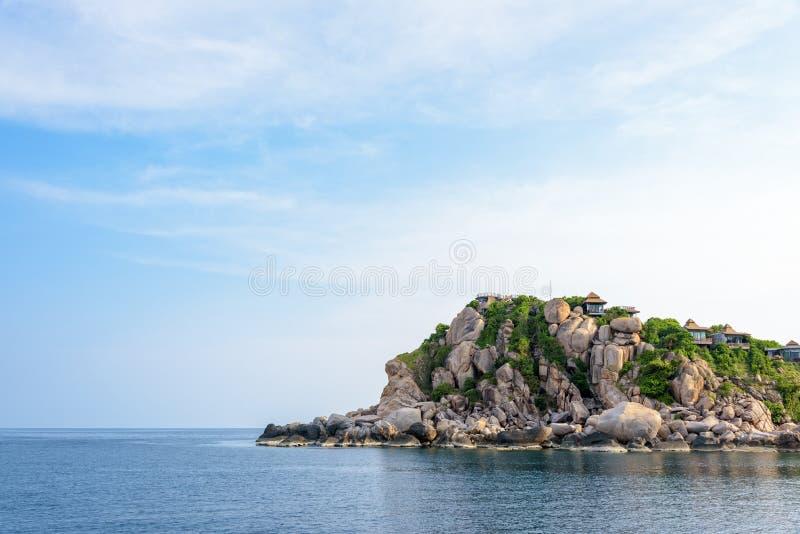 Cabo do tubarão na ilha Tailândia de Ko Tao imagem de stock
