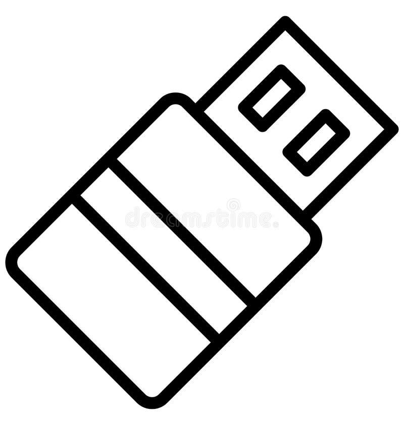 Cabo do Usb, cabo do usb, ícone isolado do vetor que pode facilmente ser editado em todo o tamanho ou ser alterado Cabo do Usb, c ilustração stock