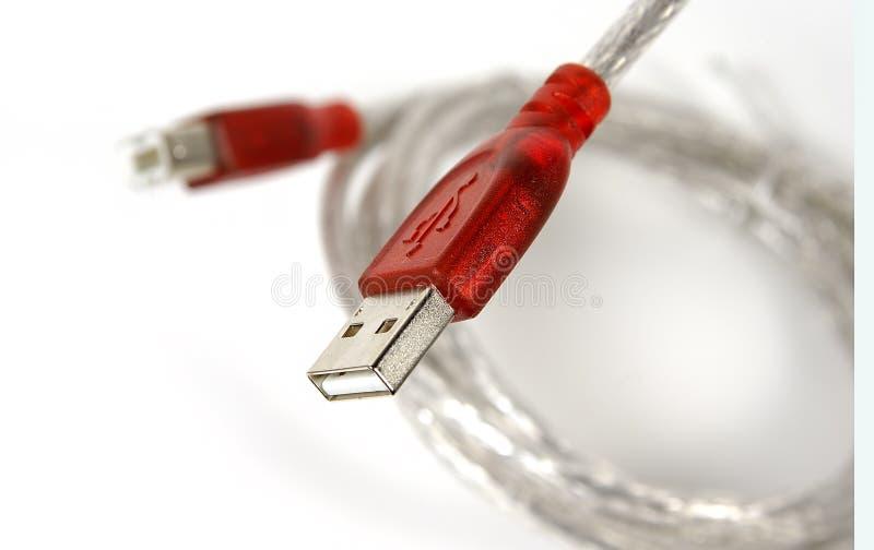 Cabo do USB foto de stock
