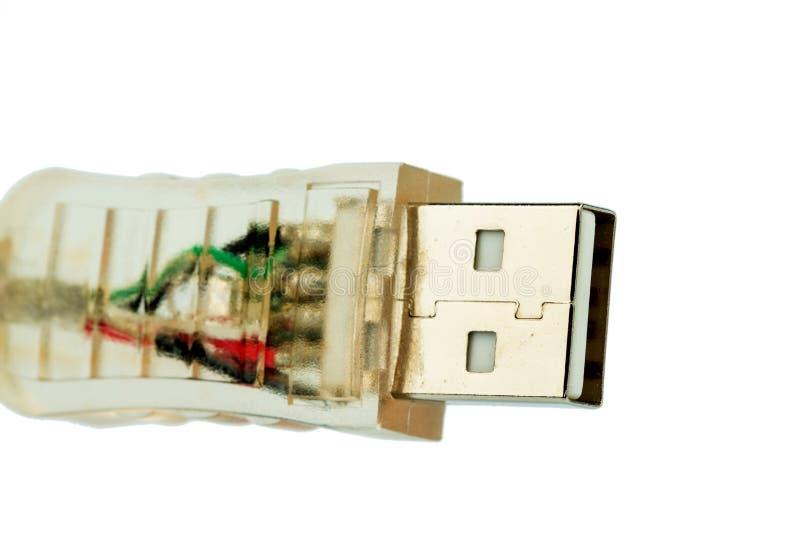 Cabo do Usb contra um fundo branco fotos de stock