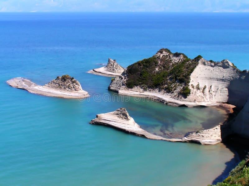 Cabo Drastis, Corfú fotos de archivo