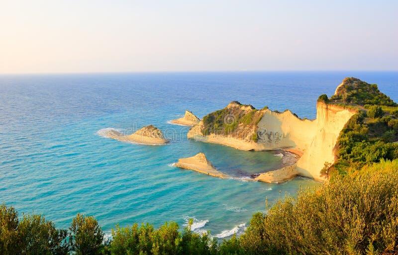 Cabo Drastis, Corfú, Grecia imagenes de archivo